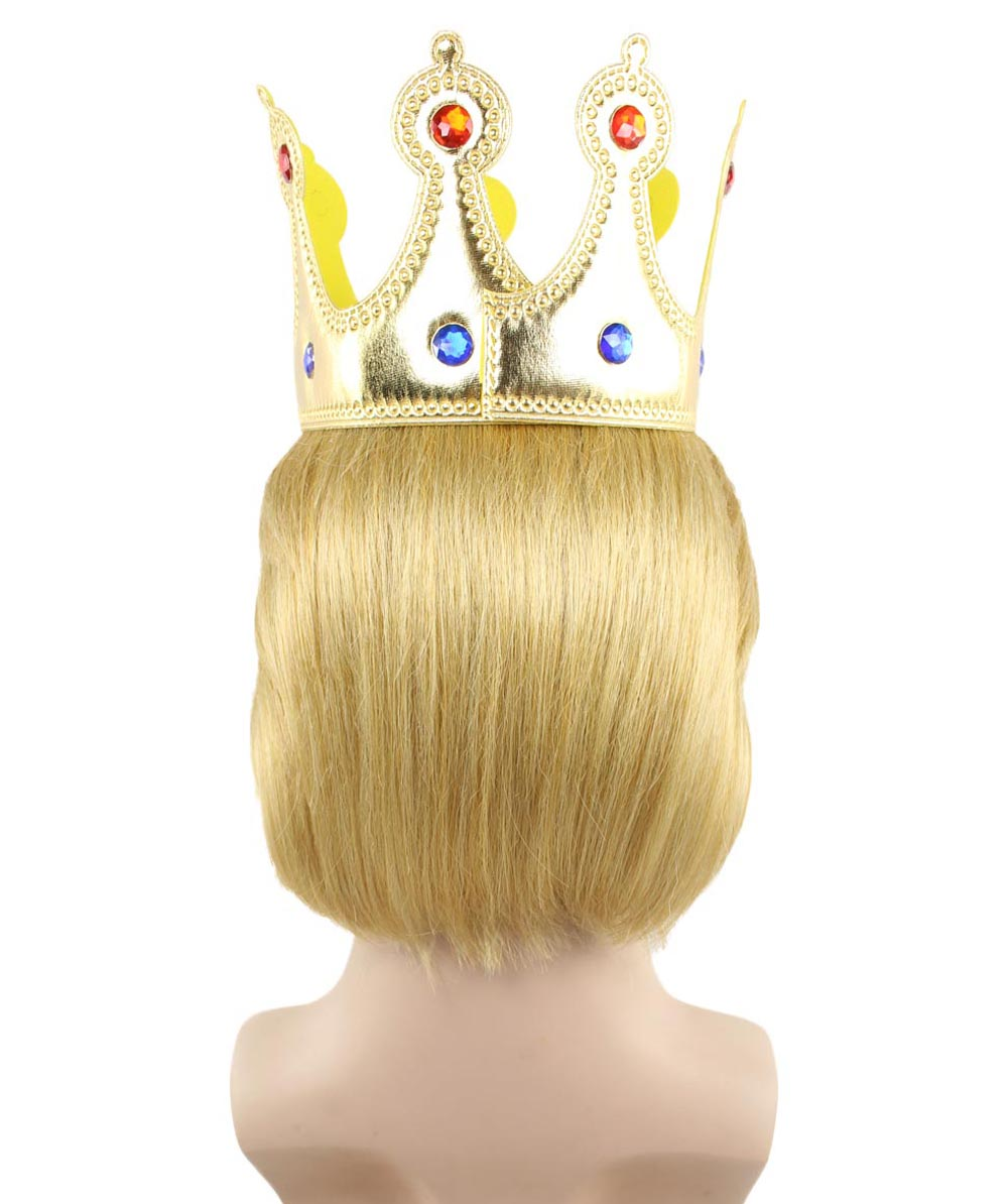 EXCLUSIVE! Wig for President Trump II with Gold Crown HM-176
