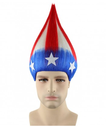 Halloween Party Costume American Stripes Troll Wig HM-207