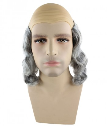 Halloween Party Costume Benjamin Franklin Wig HM-221