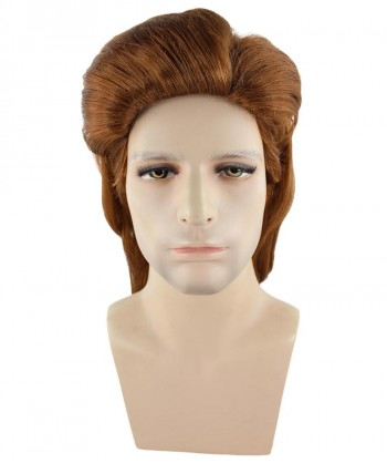 Halloween Party Costume 80s Brown Mullet Wig  HM-248