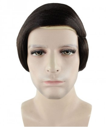 Halloween Party Costume Comb Over Bald Men Dk Brown Wig  HM-251