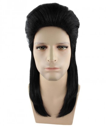 Halloween Party Costume 80s Black Mullet Wig HM-253