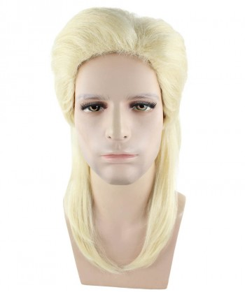 Halloween Party Costume 80s Blonde Mullet Wig HM-254