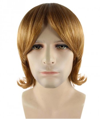 Halloween Party Costume 70's Brown Shag Wig HM-276