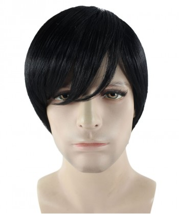 Halloween Party Costume Black Emo Wig HM-285