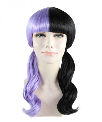 Halloween Party Costume (1-2 Days Dispatch) Exclusive! Wig for cosplay Melanie with Purple and Black Wavy style HW-1075