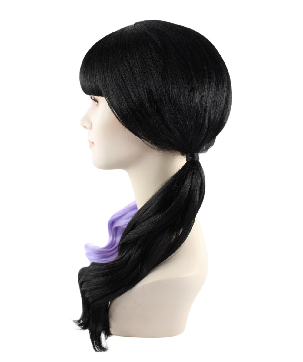 (1-2 Days Dispatch) Exclusive! Wig for cosplay Melanie with Purple and Black Wavy style HW-1075