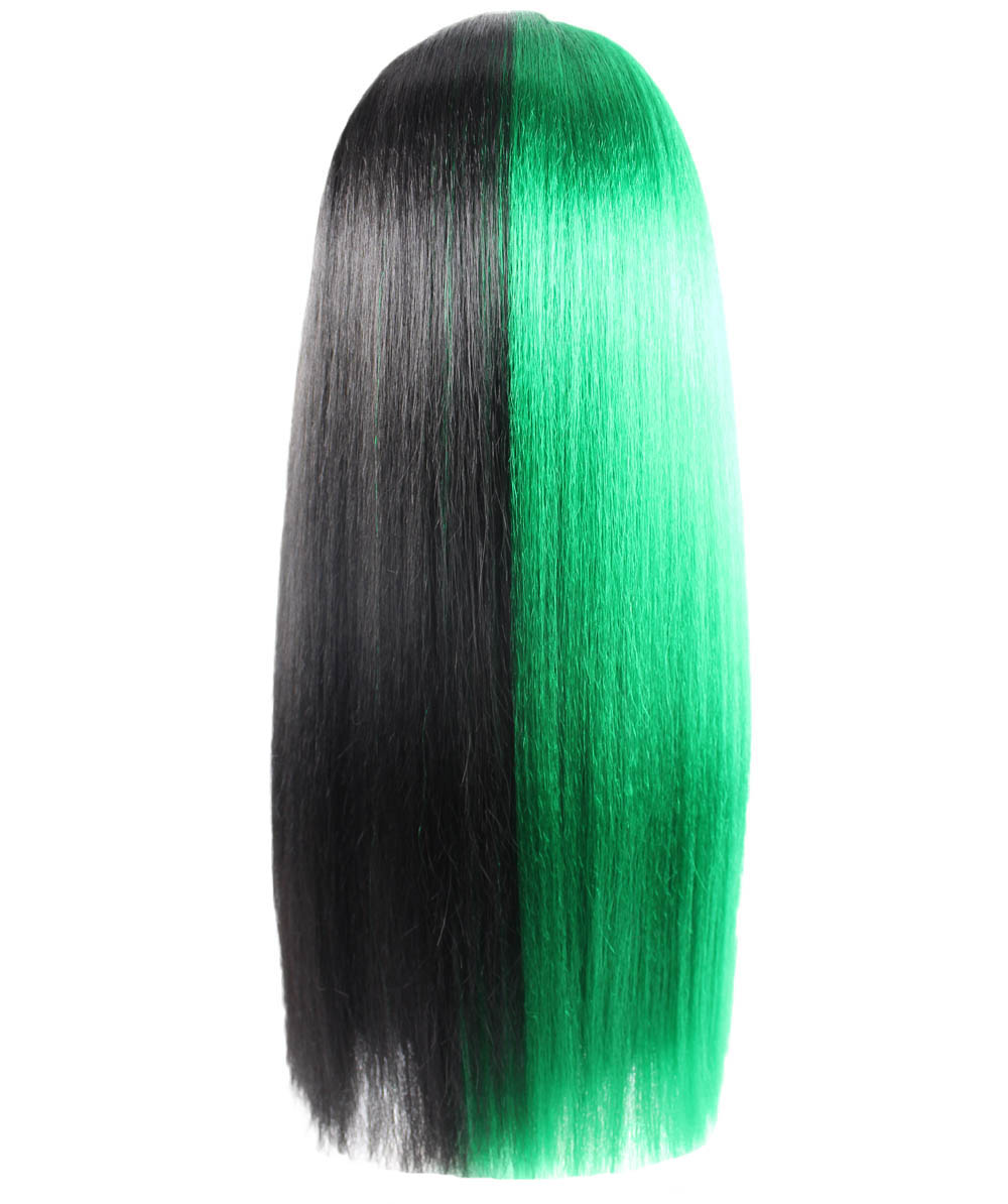 (1-2 Days Dispatch) Exclusive! Wig for cosplay Melanie with Green and Black Long straight style HW-1082