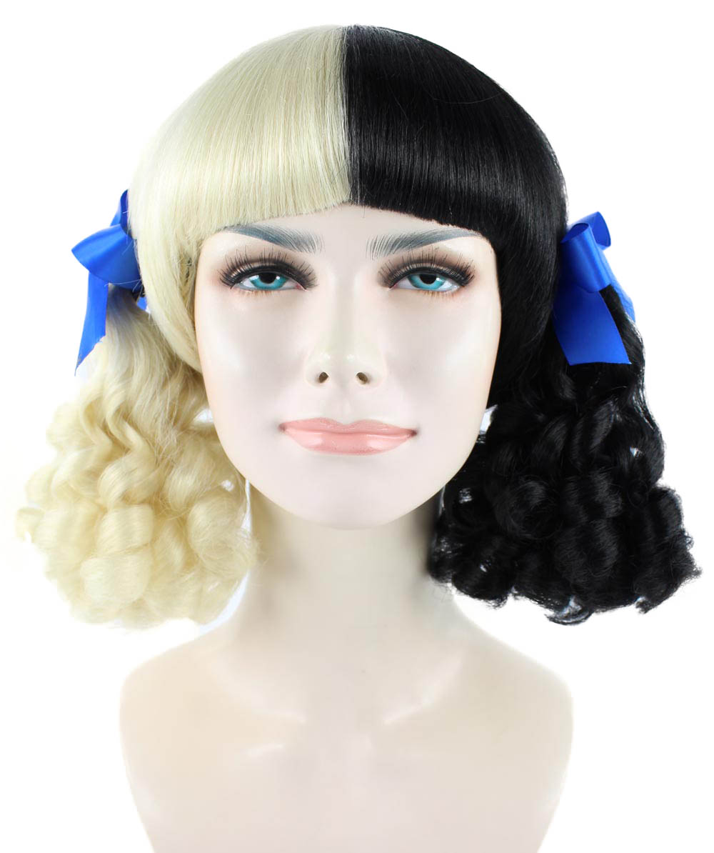 (1-2 Days Dispatch) Exclusive! Wig for cosplay Melanie with Blue Ribbons HW-1098