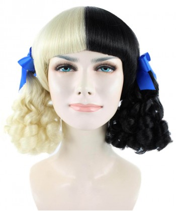Halloween Party Costume (1-2 Days Dispatch) Exclusive! Wig for cosplay Melanie with Blue Ribbons HW-1098