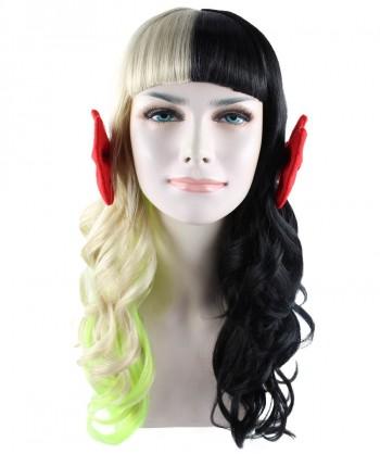 Halloween Party Costume (1-2 Days Dispatch) Exclusive! Wig for cosplay Melanie with two small red bow style HW-1099