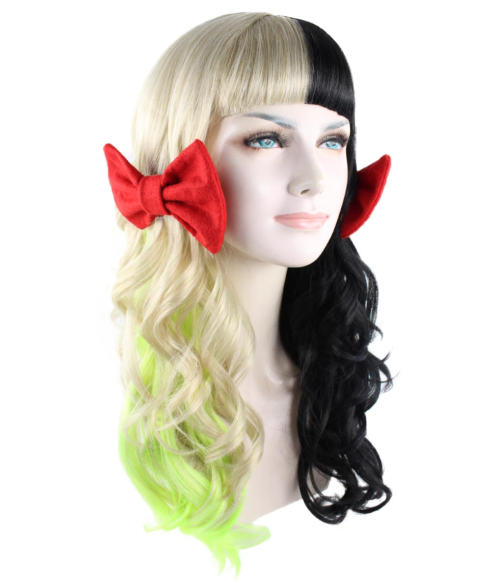 (1-2 Days Dispatch) Exclusive! Wig for cosplay Melanie with two small red bow style HW-1099