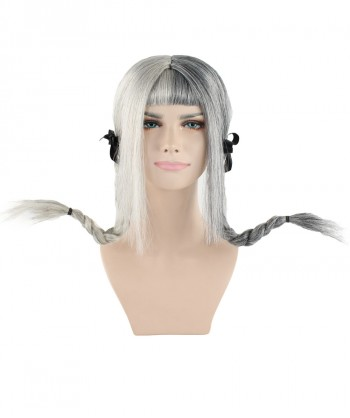 Halloween Party Costume Exclusive! Wig for cosplay Melanie Grey Ponytail style HW-1100
