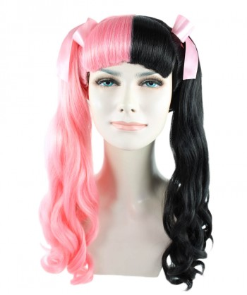 Halloween Party Costume Exclusive! Wig for cosplay Melanie with Pink ribbon style HW-1101