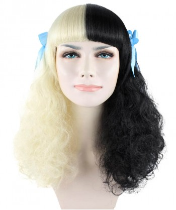 Halloween Party Costume (1-2 Days Dispatch) Exclusive! Wig for cosplay Melanie Mrs. Potato Head with Blue Ribbons HW-1116