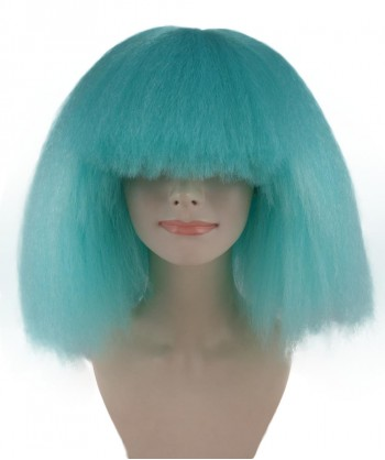 Halloween Party Costume Pop Star Blue Lake Wig - HW-1131