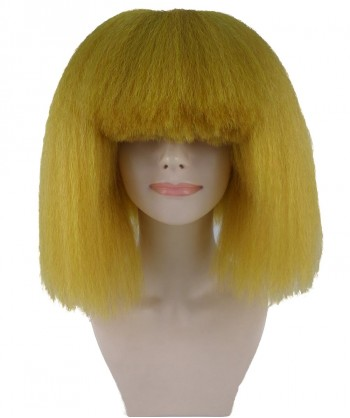 Halloween Party Costume Pop Star Gold Wig HW-1148