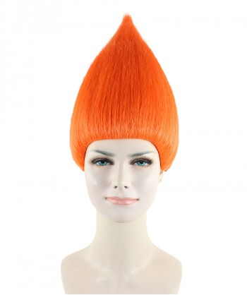 Halloween Party Costume Women's Wig for Cosplay Orange Troll Style HW-1347