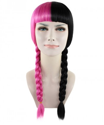 Halloween Party Costume Exclusive! Wig for cosplay Melanie Pink and Black Braid style HW-1358