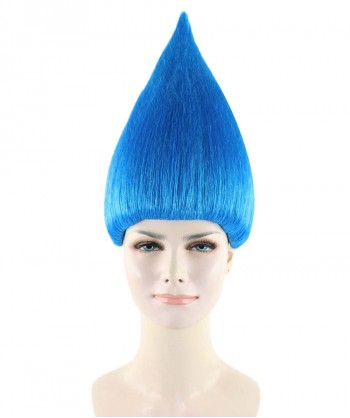 Halloween Party Costume Women's Wig for Cosplay Blue Troll Style HW-1362