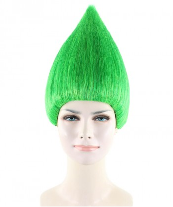 Halloween Party Costume Women's Wig for Cosplay Green Troll Style HW-1364
