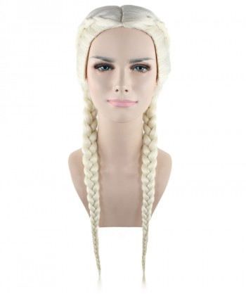 Halloween Party Costume (1-2 Days Dispatch) Exclusive! Wig for cosplay Kim Kardashian Blonde Braid style HW-1383