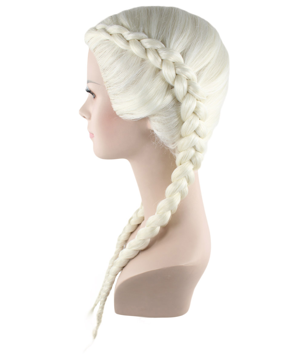 (1-2 Days Dispatch) Exclusive! Wig for cosplay Kim Kardashian Blonde Braid style HW-1383