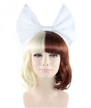 Halloween Party Costume Exclusive! Wig for cosplay Melanie with White Bow style HW-1386