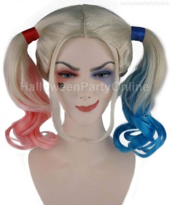 Halloween Party Costume (1-2 Days Dispatch) Wig for Cosplay Suicide Quinn HW-141