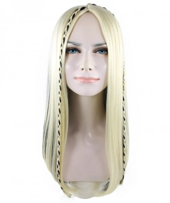 Halloween Party Costume Exclusive! Wig for Cosplay Kylie Jenner Blonde and Black Braid Hair HW-1416