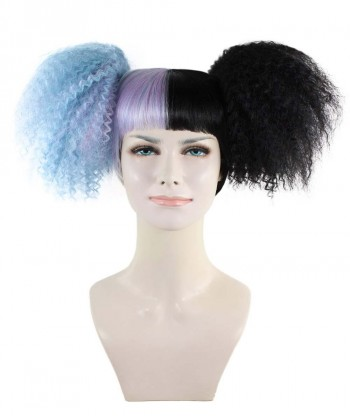 Halloween Party Costume Exclusive! Wig for cosplay Melanie Martinez Lt Blue and Black Style HW-1433
