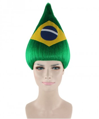 Halloween Party Costume Brazil Flag Troll Wig HW-1442