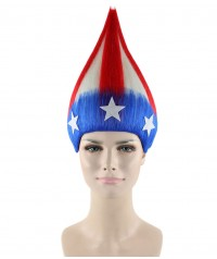 Halloween Party Costume American Stripes Troll Wig HW-1479