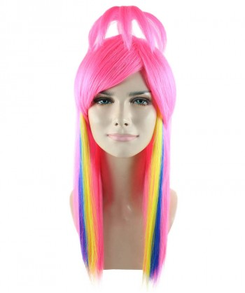 Halloween Party Costume Fantasy Pink Wig HW-1591