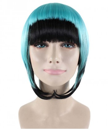 Halloween Party Costume Horror Blue Black Wig  HW-1593