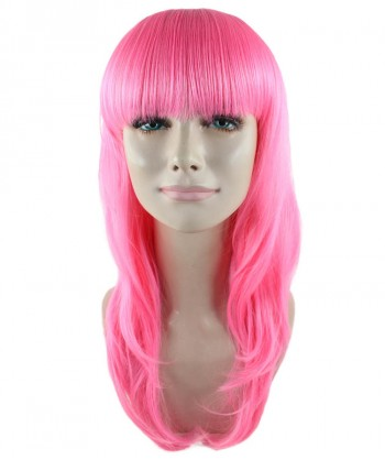 Halloween Party Costume Long Pink Wig HW-1598