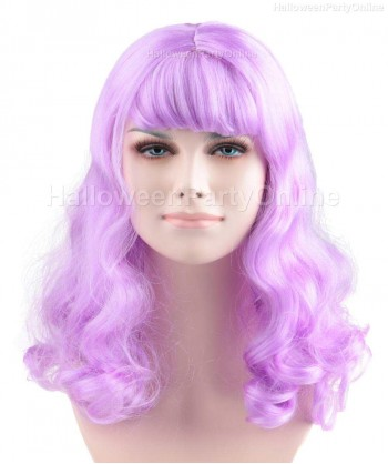 Halloween Party Costume Wig for Singer Katy Potion Purple HW-166
