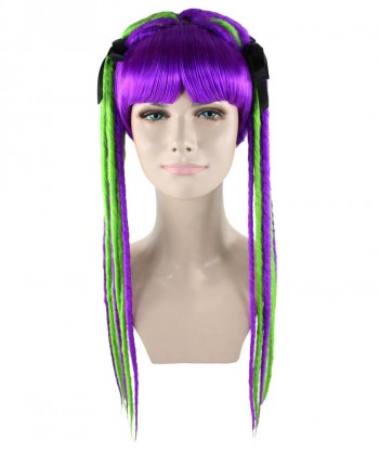 Halloween Party Costume Neon Dreadlock Wig  HW-1661