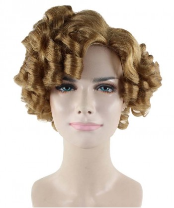 Halloween Party Costume Brown Doll Curly Wig  HW-1671
