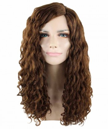 Halloween Party Costume Brown Curly Wig HW-1693