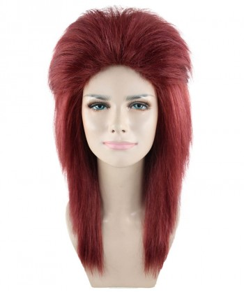 Halloween Party Costume 80s Dark Auburn Rock Diva Wig HW-1695