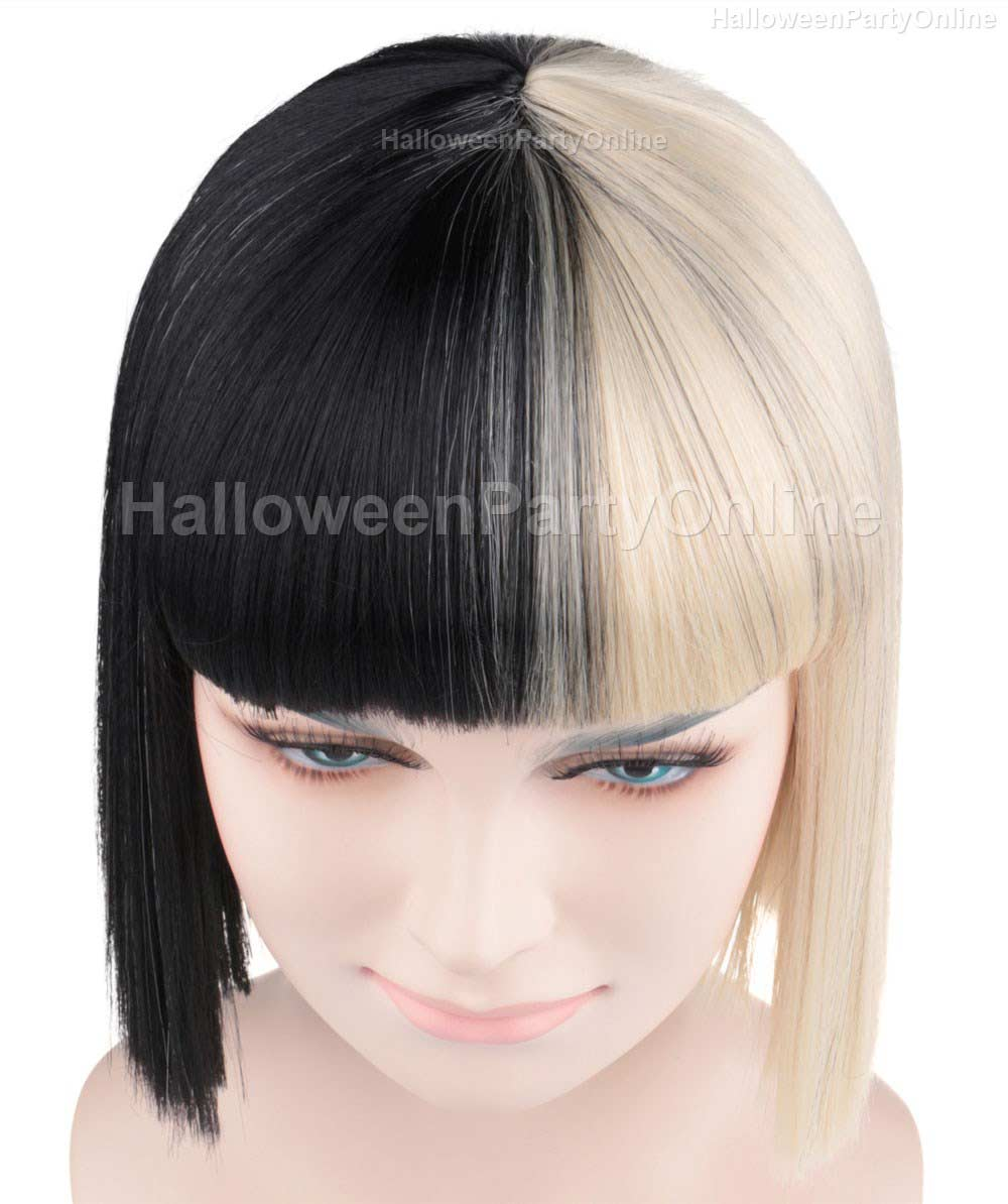 Wig for Australian Singer Black & Blonde Small HW-171
