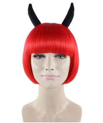 Halloween Party Costume Devil Wig with Horns  HW-1735