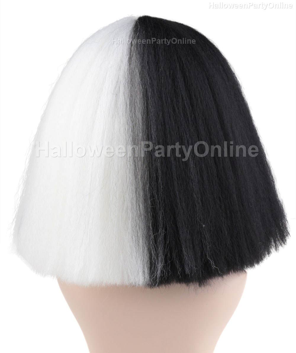 (1-2 Days Dispatch) Wig for Australian Singer Black & White Large HW-174