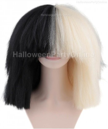 Halloween Party Costume Wig for Australian Singer Black & Blonde Extra Large HW-175