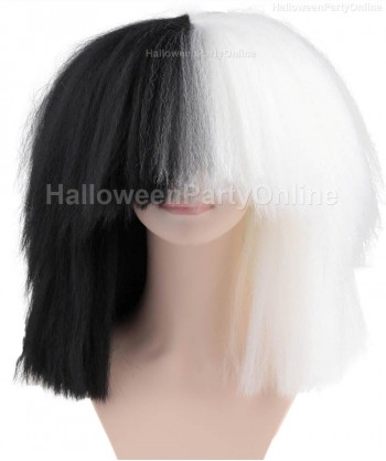 Halloween Party Costume Wig for Australian Singer Black & White Extra Large HW-176