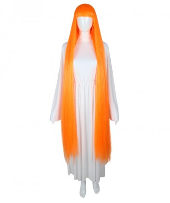 Halloween Party Costume 50-Inch Extra Long Orange Wig HW-1846