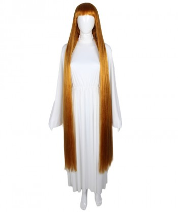 Halloween Party Costume 50-Inch Extra Long Golden Brown Wig HW-1848