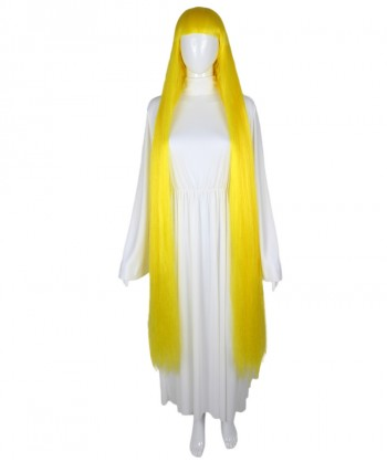 Halloween Party Costume 50-Inch Extra Long Yellow Wig HW-1849