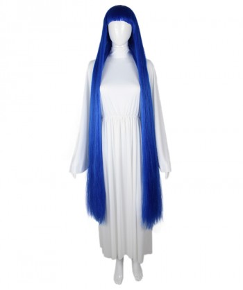 Halloween Party Costume 50-Inch Extra Long Dark Blue Wig HW-1854